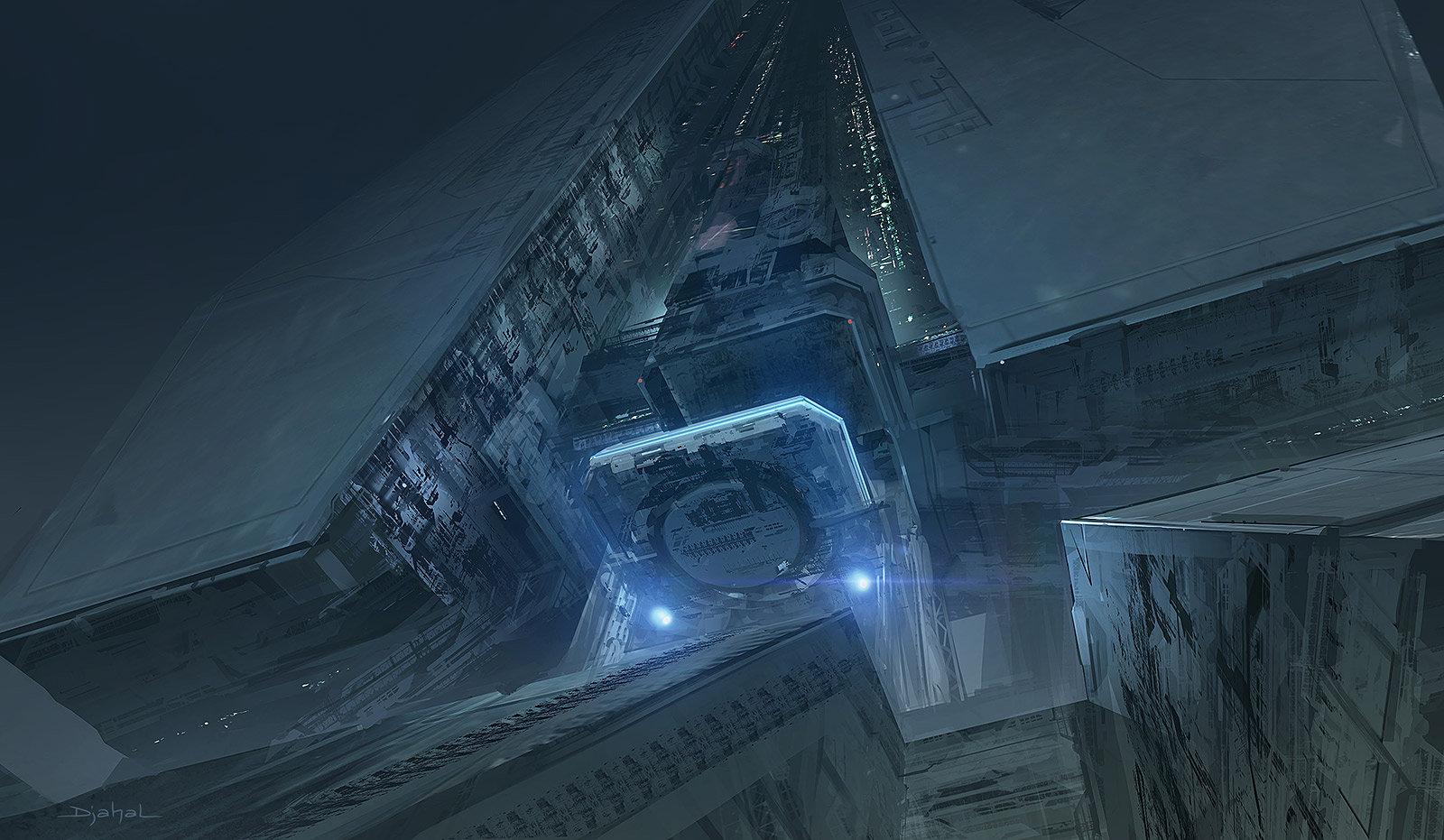 The sci fi concept art of geoffroy thoorens alien 5 for Sci fi decor