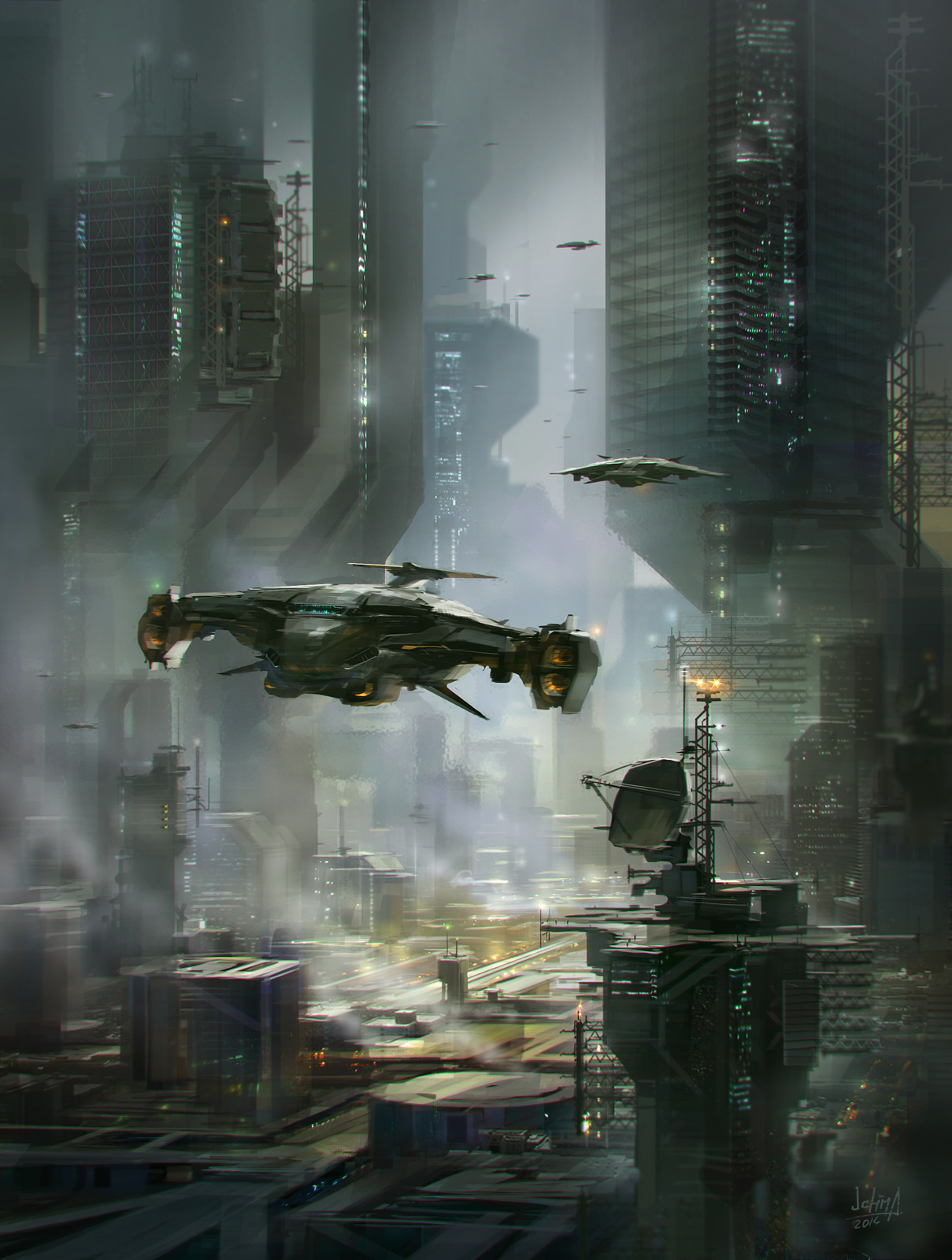 The futuristic sci fi art of alex ichim concept art for Sci fi decor