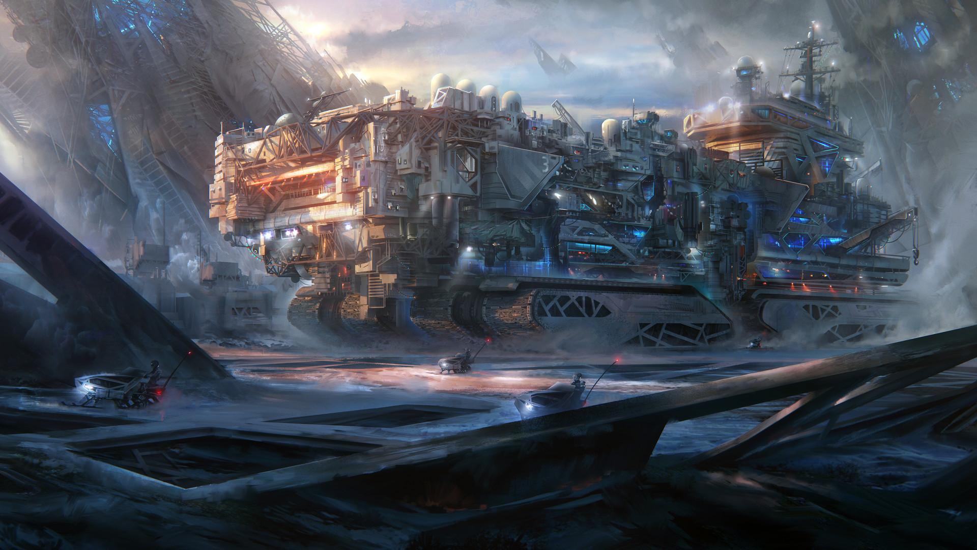 The sci fi art of leon tukker science fiction artist for Sci fi decor