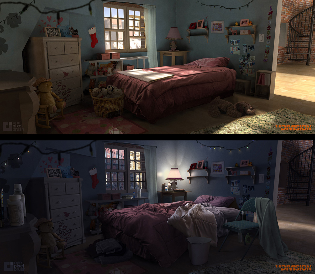 The concept artist shaddy safadi art of one pixel brush for Bedroom concepts