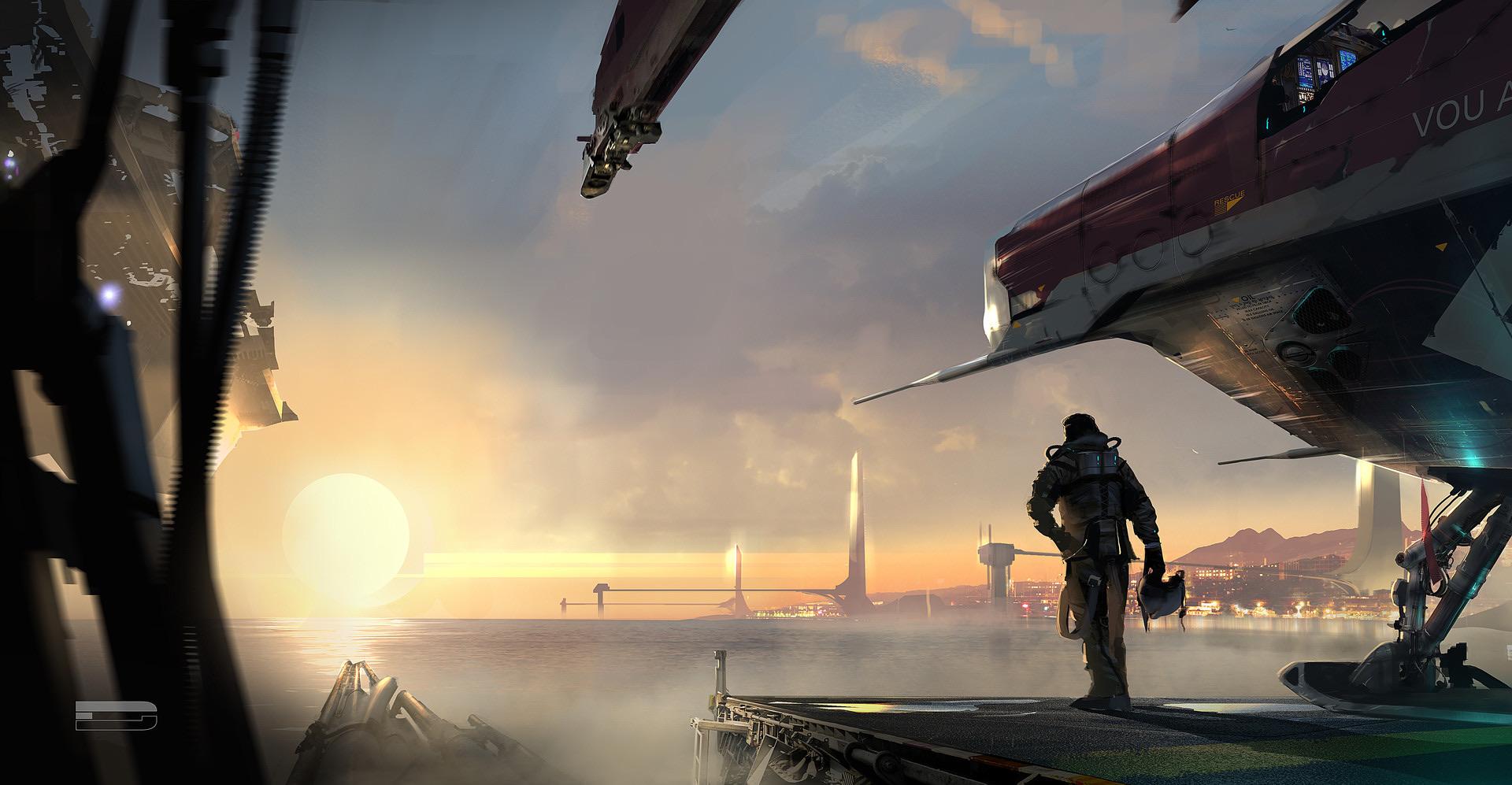 The Science Fiction Art of Romain Jouandeau | Digital Artist |Science Fiction Graphics