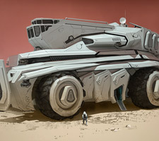 Mars Vehicle Concept Artwork by Darren Bartley
