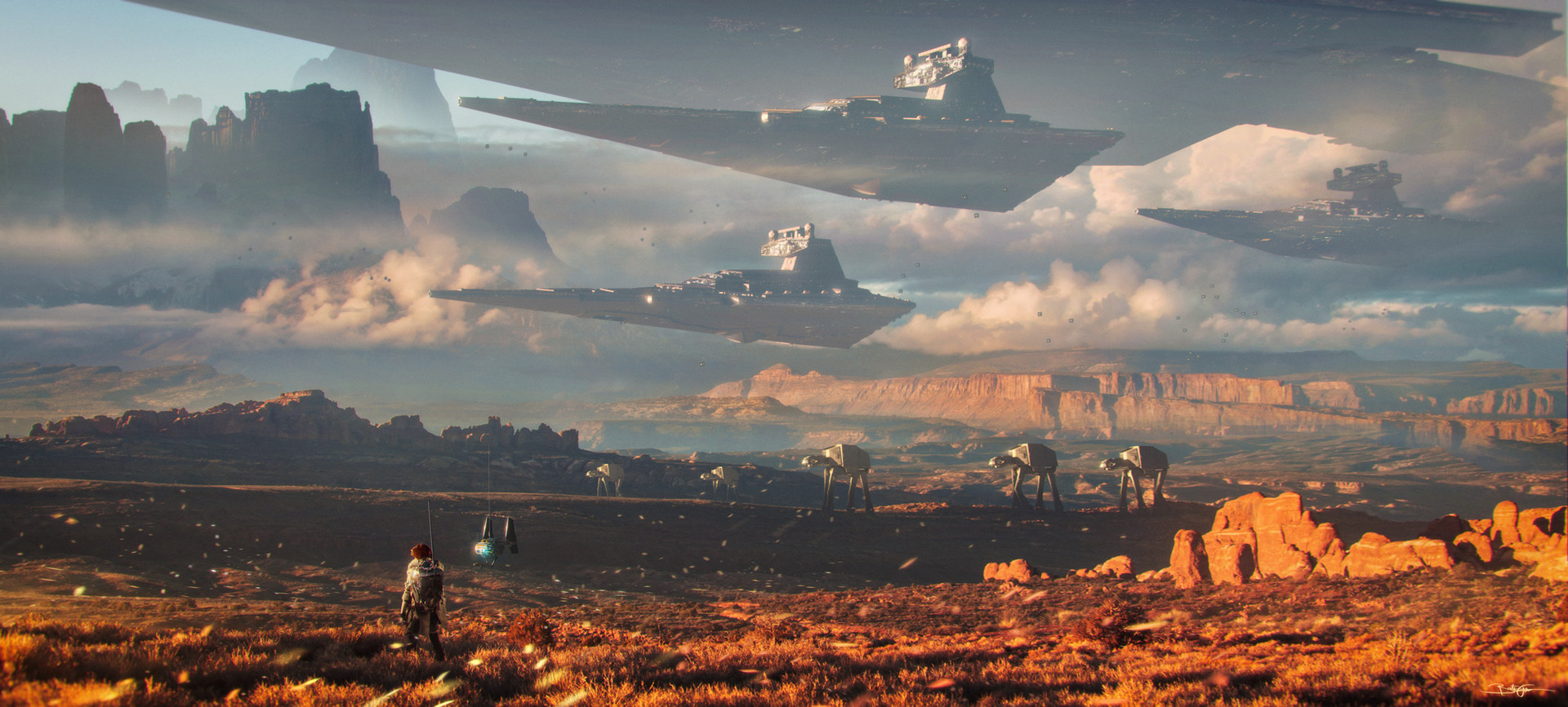 The Cool Sci-Fi Art of Bastien Grivet