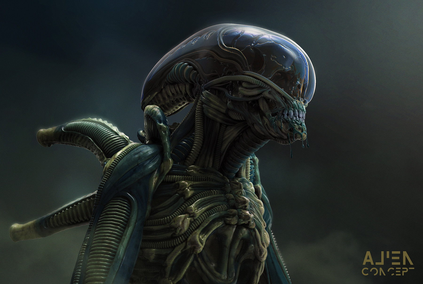 Cool Alien Themed Art by Maximus Jacobs
