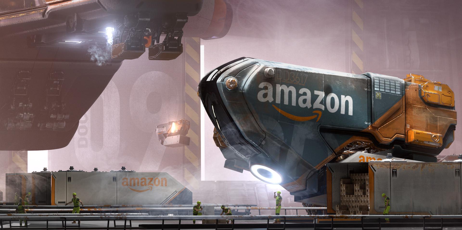 Amazon Loading Dock Concept Art by Daniel Balzer