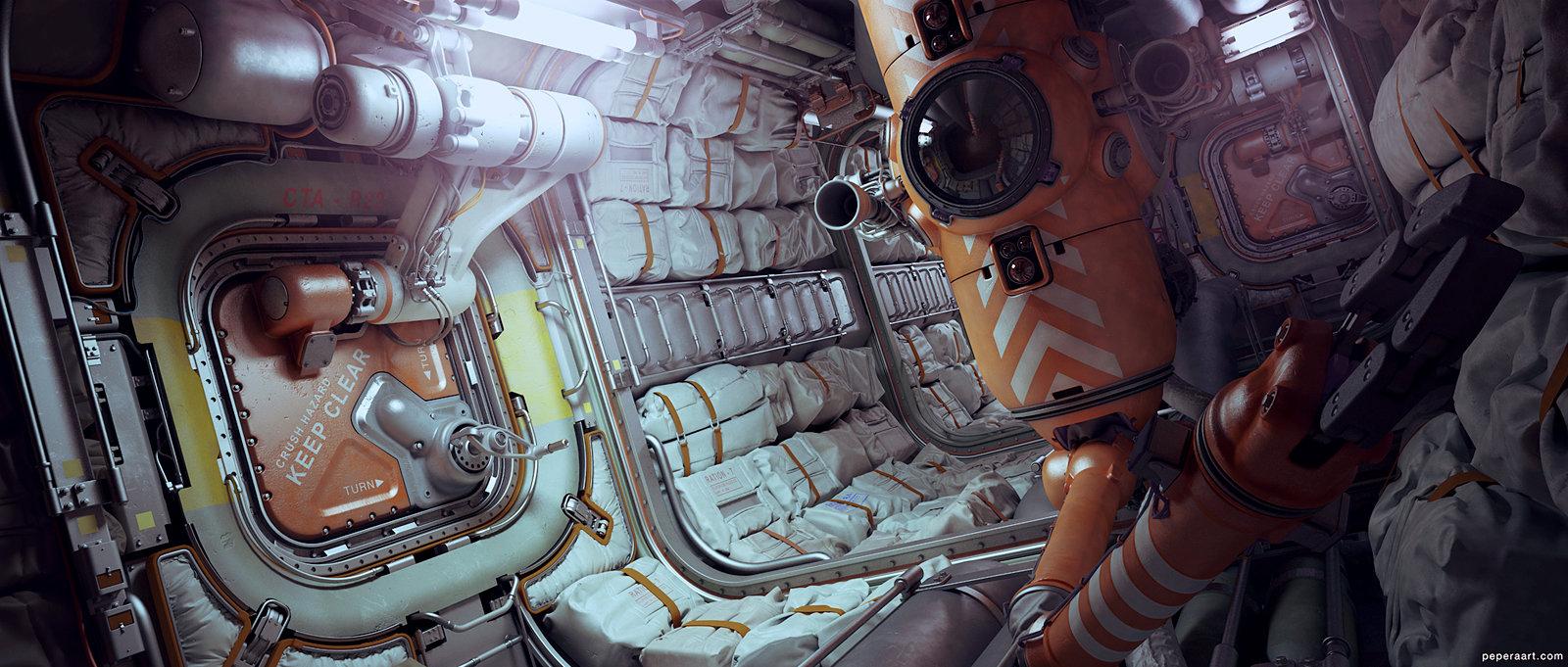 Stunning 3d Sci Fi Design By Paul Pepera 3d Artist
