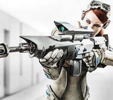 Badass StarCraft: Ghost Cosplay by Jessica Dru
