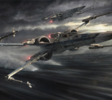 Explosive New Star Wars X-Wing Artwork by Jerry Vanderstelt