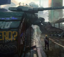 Futuristic Military Tech Art by Rasmus Poulsen