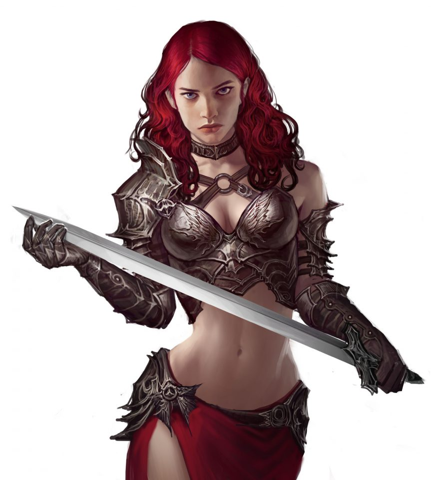 imthonof-u-female-warrior-art