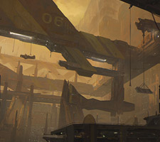 Red Mines Sci-Fi Illustration by Chris Ostrowski
