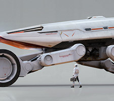 Exoplanetary Vehicle by Joakim Englander