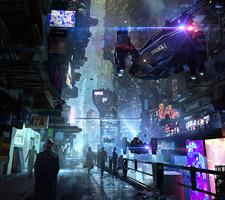 Cool Sci-Fi Cityscape by Eddie Del Rio