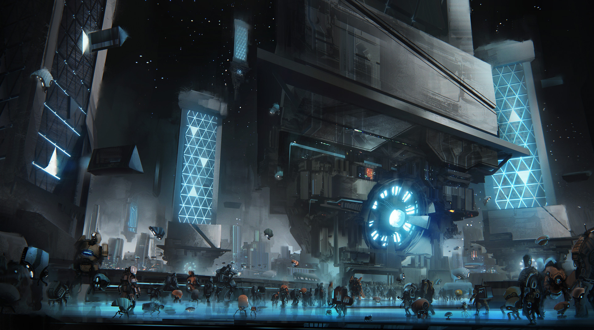 The Super Impressive Sci-Fi Art of Leon Tukker