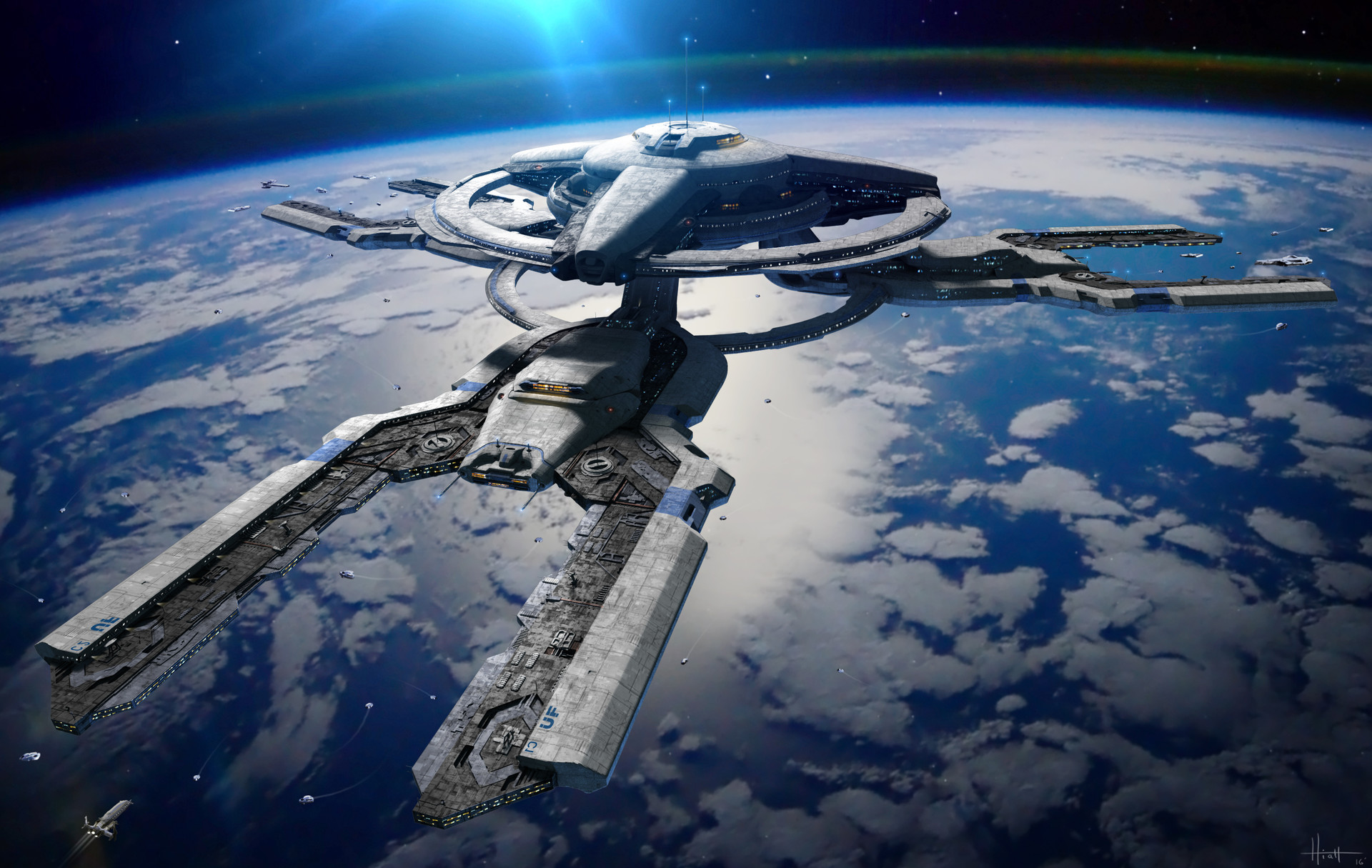 The Cinematic Sci-Fi Art of Nick Hiatt