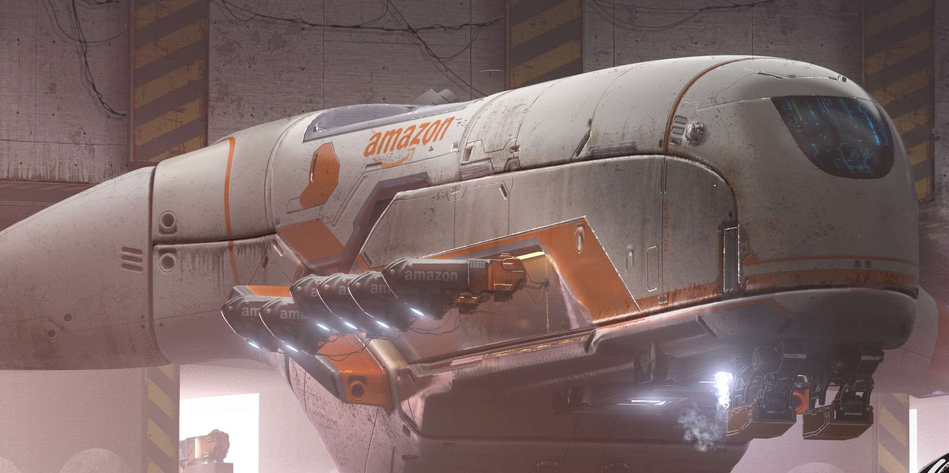 Amazon Loading Dock Concept Art by Daniel Balzer