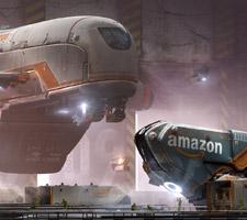 Futuristic Amazon Concept Art by Daniel Balzer