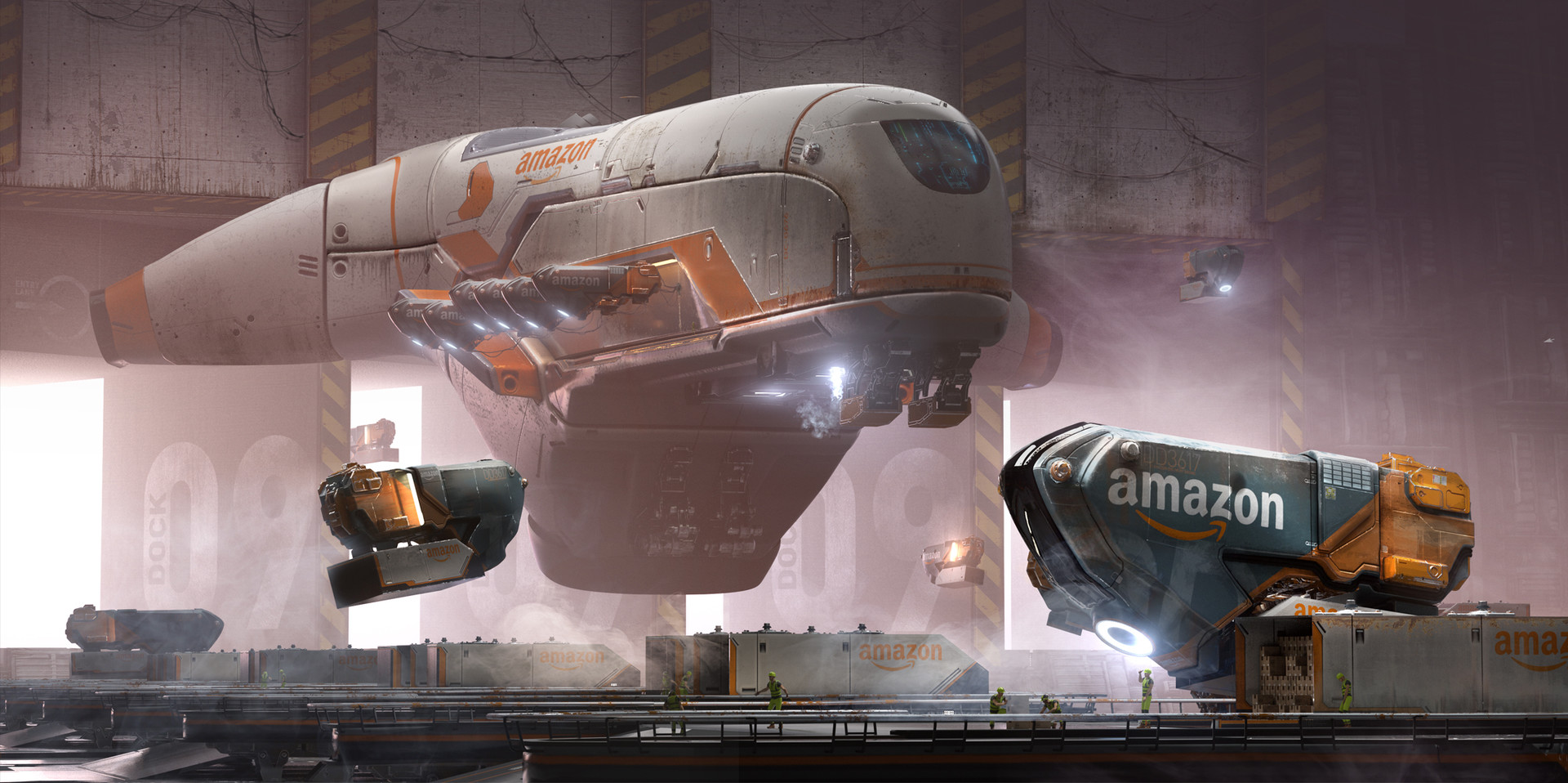 Futuristic Amazon Concept Art by Daniel Balzer