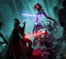 Mara Jade vs Vader Art by Mike Heath