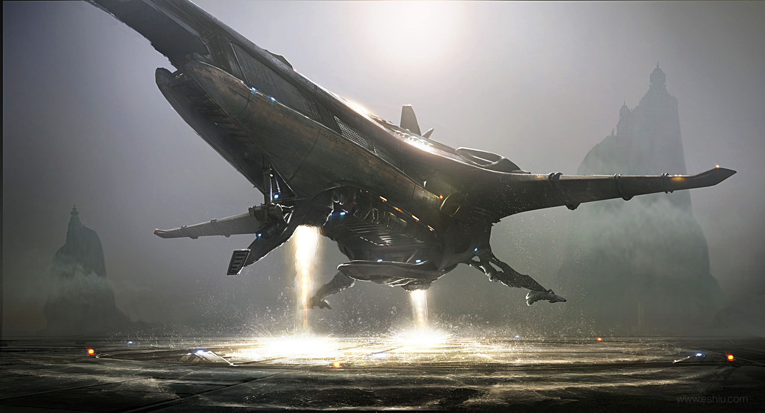 The Sci-Fi Concept Art of Emmanuel Shiu