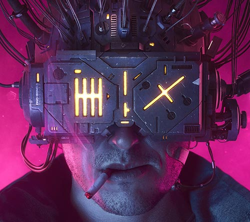 Awesome Neuromancer Artwork by Rafael Moco