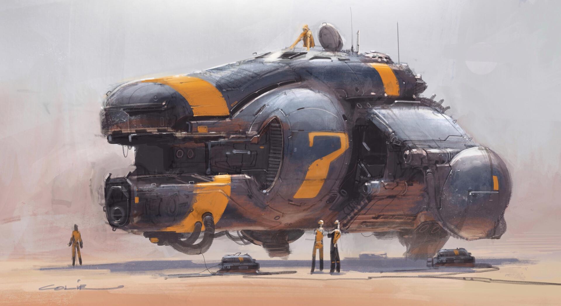 Sci-Fi  Craft & Vehicles by Colie Wertz