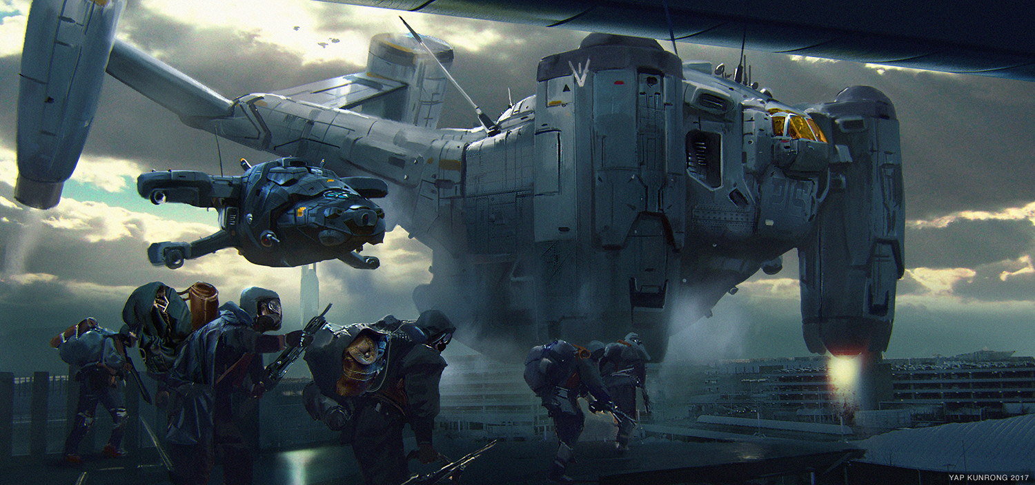 The Science Fiction Art of Kunrong Yap